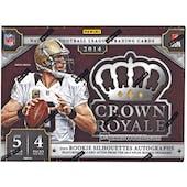 2014 Panini Crown Royale Football Hobby Box