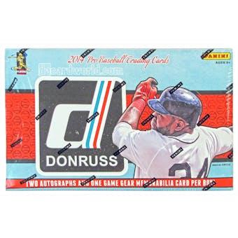 2014 Panini Donruss Baseball Hobby Box