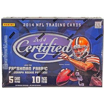 2014 Panini Certified Football Hobby Box