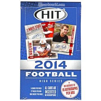 2014 Sage Hit High Series Football Hobby Box
