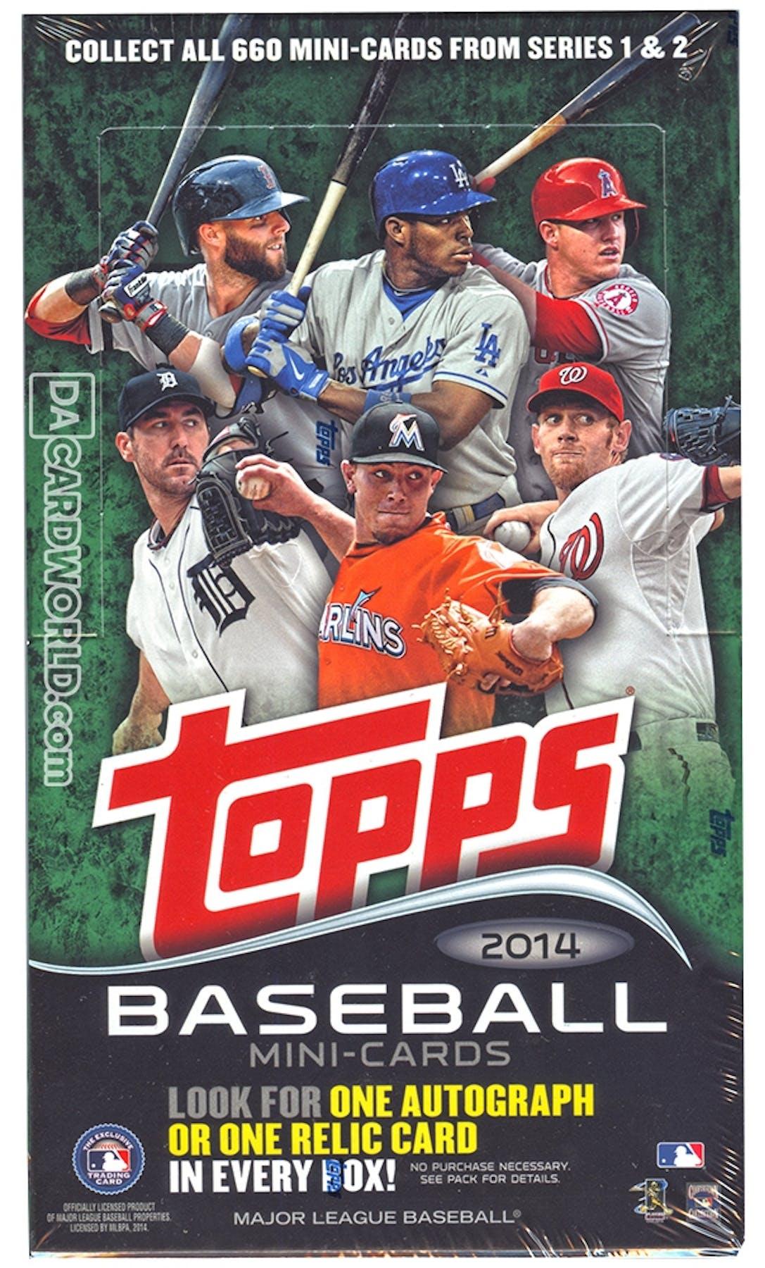 2014 Topps Mini Baseball Hobby Box Da Card World