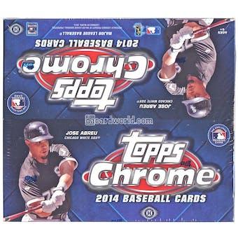 2014 Topps Chrome Baseball Jumbo Box