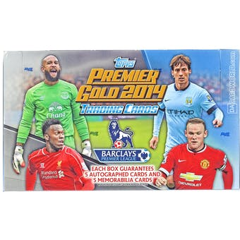 2014 Topps English Premier League Gold Soccer Hobby Box