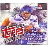 2014 Topps Football Hobby Jumbo Box