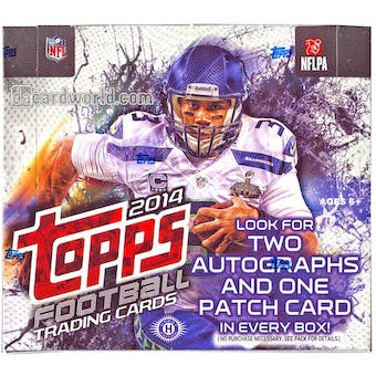 2014 Topps Football Hobby Jumbo Box