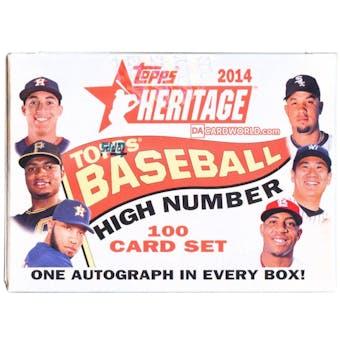 2014 Topps Heritage High Number Baseball Hobby Box (Set) (Betts RC!)