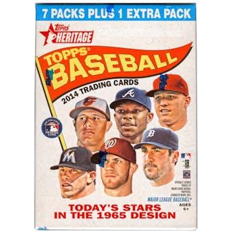 2014 Topps Heritage Baseball 8-Pack Blaster Box