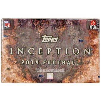 2014 Topps Inception Football Hobby Box