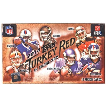 2014 Topps Turkey Red Football Box (One Autographed Rookie Card Per Box!)