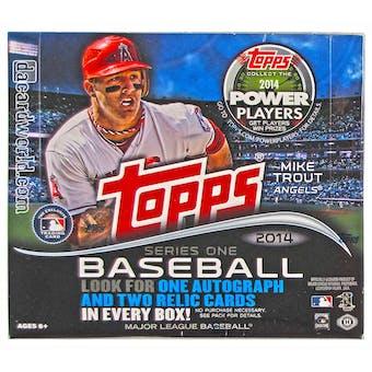 2014 Topps Series 1 Baseball Jumbo Box
