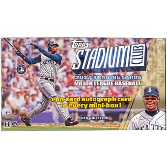 2014 Topps Stadium Club Baseball Hobby Box