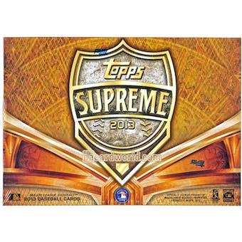 2013 Topps Supreme Baseball Hobby Box