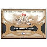 2014 Topps Tier One Baseball Hobby Box