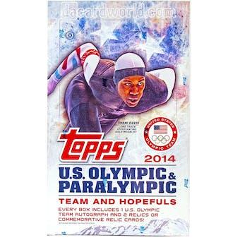 2014 Topps U.S. Olympic Hobby Box
