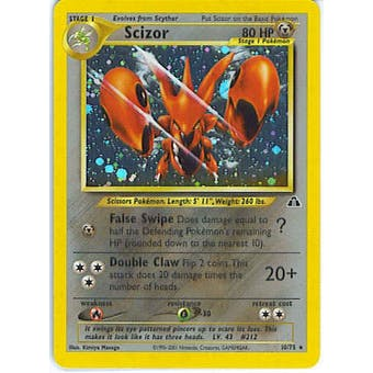 Pokemon Neo Discovery Single Scizor 10/75 - SLIGHT PLAY (SP)