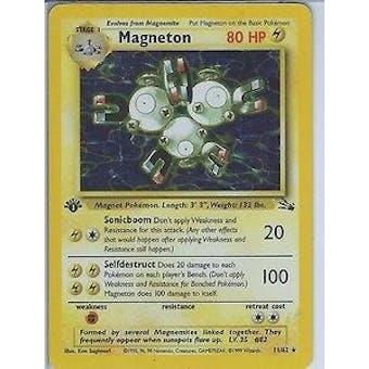 Pokemon Fossil 1st Edition Single Magneton 11/62
