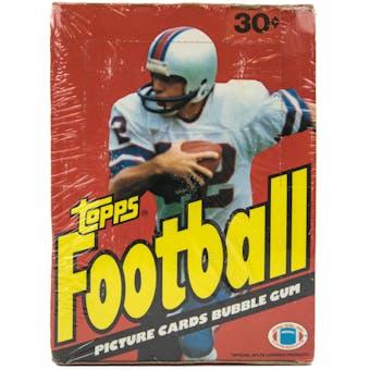 1981 Topps Football Wax Box