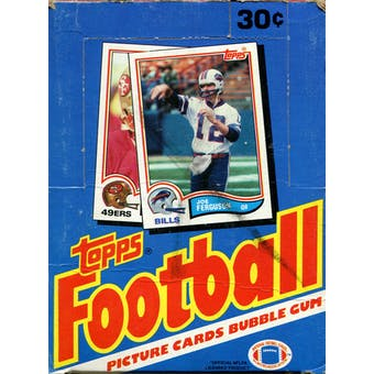1982 Topps Football Wax Box
