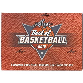 2015/16 Leaf Best Of Basketball Hobby Box