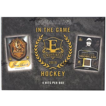 2015/16 Leaf Enshrined Edition Hockey Hobby Box