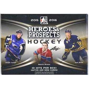 2015/16 Leaf Heroes & Prospects Hockey Hobby Box