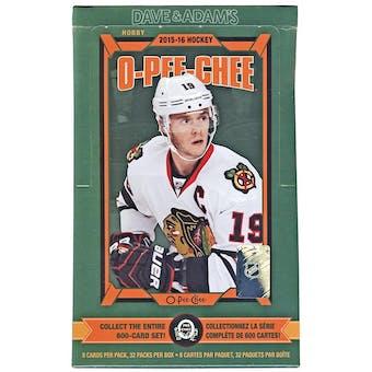 2015/16 Upper Deck O-Pee-Chee Hockey Hobby Box