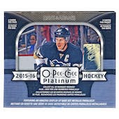 2015/16 Upper Deck O-Pee-Chee Platinum Hockey Hobby Box