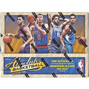 2015/16 Panini Absolute Basketball Hobby Box