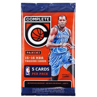 2015/16 Panini Complete Basketball Retail Pack (Lot of 24) = 1 Box!