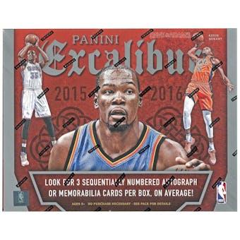 2015/16 Panini Excalibur Basketball Hobby Box