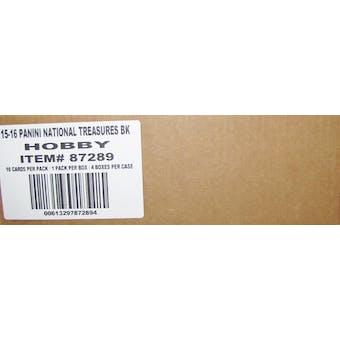 2015/16 Panini National Treasures Basketball Hobby 4-Box Case