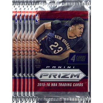 2015/16 Panini Prizm Basketball Blaster Pack (Lot of 6) = 1 Blaster Box