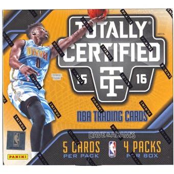 2015/16 Panini Totally Certified Basketball Hobby Box