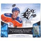 2015/16 Upper Deck SPx Hockey Hobby Box