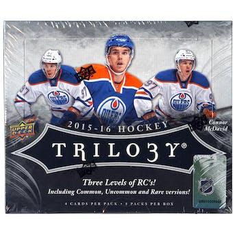 2015/16 Upper Deck Trilogy Hockey Hobby Box