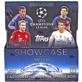 2015/16 Topps UEFA Champions League Showcase Soccer Hobby Box