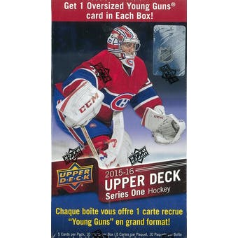 2015/16 Upper Deck Series 1 Hockey 10-Pack Blaster Box