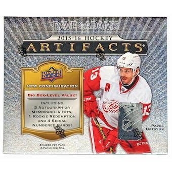 2015/16 Upper Deck Artifacts Hockey Hobby Box