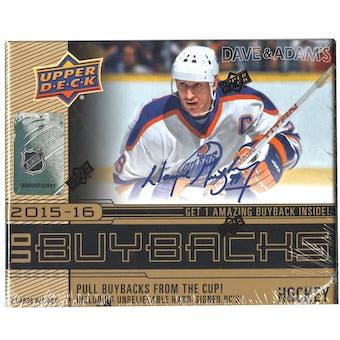 2015/16 Upper Deck Buybacks Hockey Hobby Mini-Box