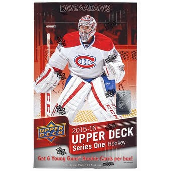 2015/16 Upper Deck Series 1 Hockey Hobby Box (Connor McDavid RC!)