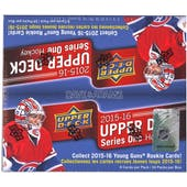 2015/16 Upper Deck Series 1 Hockey 24-Pack Box