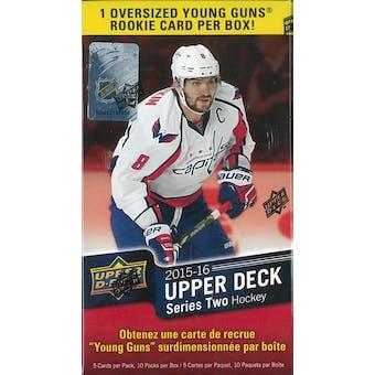 2015/16 Upper Deck Series 2 Hockey 10-Pack Blaster Box