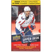2015/16 Upper Deck Series 2 Hockey 12-Pack Blaster Box