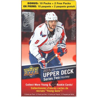 2015/16 Upper Deck Series 2 Hockey 12-Pack Blaster Box