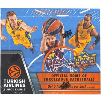 2015/16 Upper Deck Euroleague Basketball Hobby Box