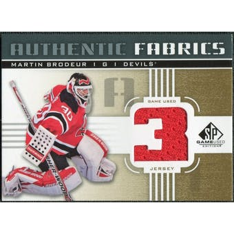 2011/12 Upper Deck SP Game Used Authentic Fabrics Gold #AFMB2 Martin Brodeur 3 C