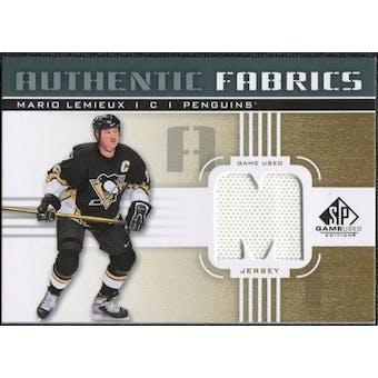 2011/12 Upper Deck SP Game Used Authentic Fabrics Gold #AFML3 Mario Lemieux M C