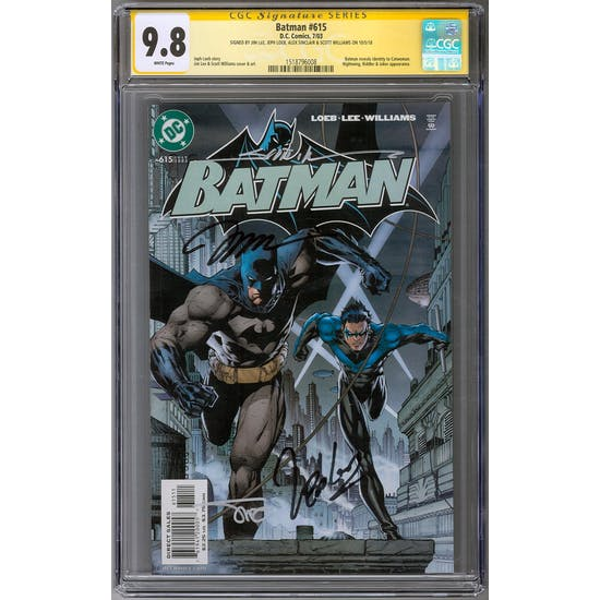 Batman #615 CGC 9.8 (W) Signature Series *1518796008*