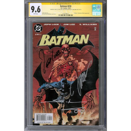 Batman #618 CGC 9.6 (W) Signature Series *1518796011*