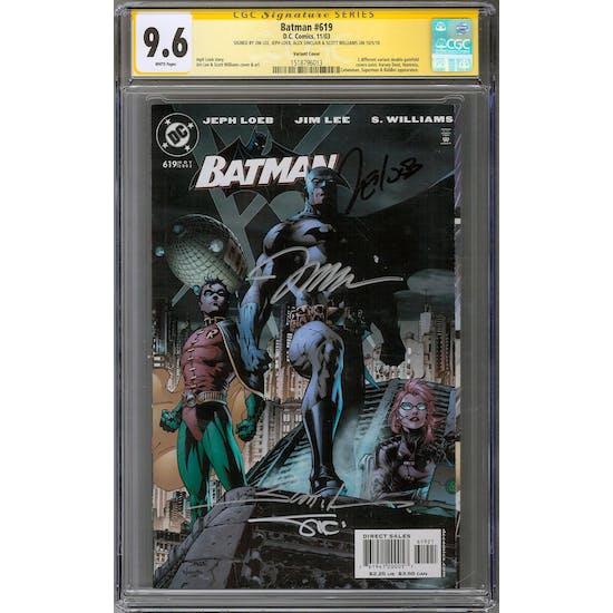 Batman #619 CGC 9.6 (W) Variant Signature Series *1518796013*